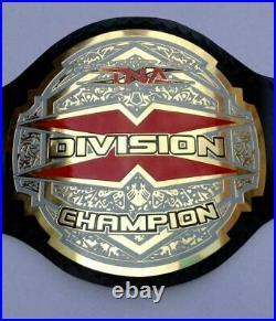 TNA X Division Wrestling Championship Belt Leather Replica Belt Adult Size