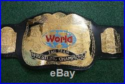 Tagteam Wwf Championship Replica Belt Crafted In 4mm Brass & Real Leather Strap