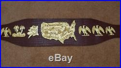 USA Heavyweight Wrestling Championship Belt 4mm casting brass plates