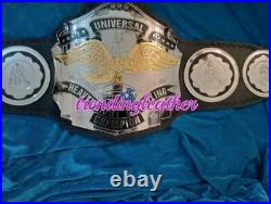 Universal Heavyweight Championship Leather Belt 2MM Brass Metal Plates