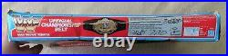 Vintage WWF Official Championship Belt 1990 Hasbro With box WWE Wrestling