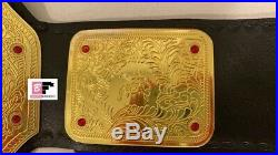 WCW Big Gold World Heavyweight Championship Leather L. Rplica. (Write Any Name)
