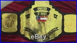 WCW US HEAVYWEIGHT WRESTLING CHAMPIONSHIP BELT. ADULT SIZE 2mm plates
