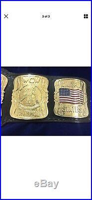 WCW United States Heavyweight Championship Belt 4mm Zinc Gold Plated
