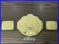 WCW World Heavyweight Wrestling Championship Belts Leather Adults Replica Plates