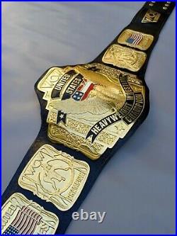 WCW united states Heavyweight Championship Belt Replica, 4mm Zinc Plates, adult