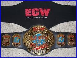 WWE AUTHENTIC ECW WORLD CHAMPIONSHIP 5 MM METAL ADULT REPLICA WRESTLING BELT rvd