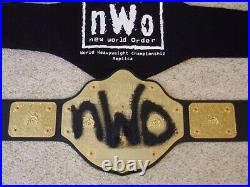WWE AUTHENTIC nWo WORLD HEAVYWEIGHT CHAMPIONSHIP WCW REPLICA METAL TITLE BELT