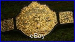 WWE BIG GOLD WORLD HEAVYWEIGHT CHAMPIONSHIP Belt Dual Plated 100% Real 24K Gold