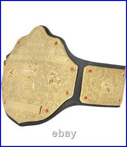 WWE Big Gold World Heavyweight Championship Replica Belt Adult Plates 2mm