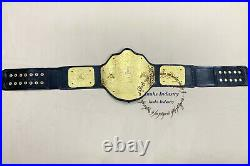 WWE Big Gold World Heavyweight Wrestling Championship Leather Belt Adult Szie