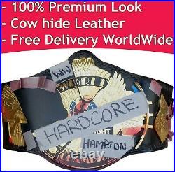 WWE Hardcore Championship Replica Title Belt Leather Zinc Brass 2/4 mm
