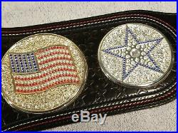 WWE John Cena Word Life US Championship Spinner Belt with Original Carry Bag
