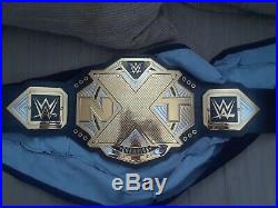 WWE NXT Championship Replica Title Belt 2017, barely used, signed