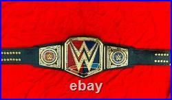 WWE RAW SMACKDOWN Championship BLACK Belt Replica Title Adult Size