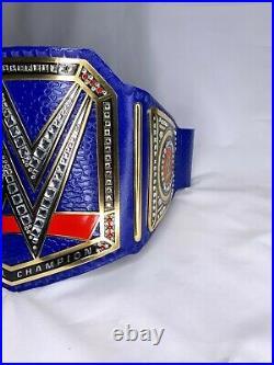 WWE Universal Championship Replica Title Belt Blue Brass 2MM