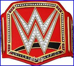 WWE Universal Championship Replica Title Belt Leather Zinc Brass 2mm 4mm