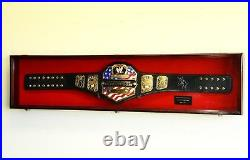 WWE WWF WRESTLING CHAMPIONSHIP ADULT SIZE BELT DISPLAY CASE FRAME BOX up to 64