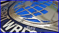 WWF 4mm Black Intercontinental Wrestling Championship Adult Metal Replica Belt