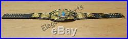 WWF 4mm Black Intercontinental Wrestling Championship Adult Size Replica Belt