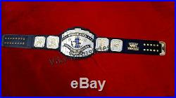 WWF 4mm DUAL PLAED Black Intercontinental Championship Adult Size Replica Belt