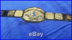 WWF 4mm DUAL PLATED Black Intercontinental Wresting Championship Replica Belt