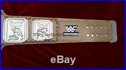 WWF 4mm GOLD Leather Intercontinental Wrestling Championship Adult Replica Belt
