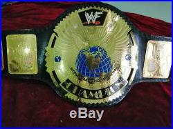 WWF Big Eagle Wrestling Championship Belt Adult Size Leather Strap