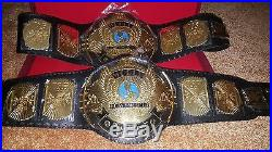 WWF Classic Gold Winged Eagle Championship Belt Adult Size with WOODEN CASE