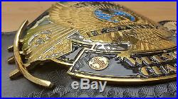 WWF DUAL PLATED 4MM Winged Eagle Wrestling Championship Metal Replica Belt