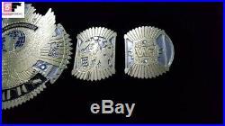 WWF Hybrid Championship 4MM Winged Eagle And Big Eagle Scratch Logo Leather Belt