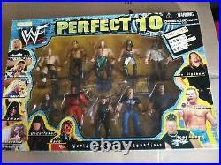 WWF Perfect 10 Boxset Includes World Championship Belt Jakks Pacific NEW SEALED