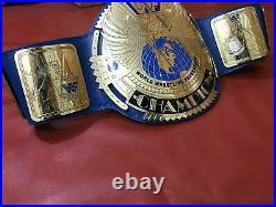 WWF Replica Big Eagle Wrestling Championship Blue Title Belt Adult Size 2MM Bras