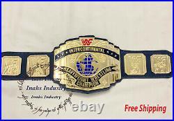 WWF Replica Intercontinental Heavyweight Wrestling Championship Belt 4mm Zinc