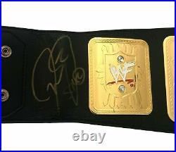 WWF Signed Championship Belt PSA Coa Stone Cold Mick Foley Hart Michaels +1 WWE