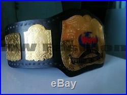 WWF World TAG TEAM WRESTLING CHAMPIONSHIP BELT, Leather Belt Adult Size