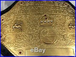 Wcw Big Gold World Heavyweight Championship Adult Belt Replica Gold Plated