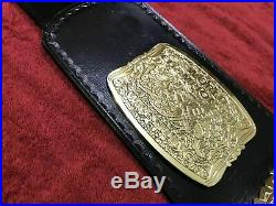 Wcw United States Us Championship Belt In 2 MM Brass Plates Leather Strap Adult
