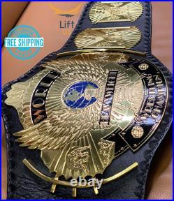 Winged Eagle Championship Wrestling Replica Title Belt 2mm Brass Plate Adult