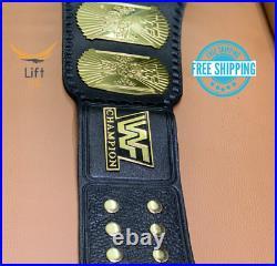 Winged Eagle Championship Wrestling Replica Title Belt Brass 2mm Adult size