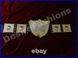 World Heavyweight Championship 24KT Gold Zinc 8MM Leather Belt 2 Layers
