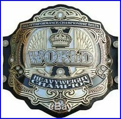 World Heavyweight Championship Wrestling Belt 2mm Brass Plate Leather Strap
