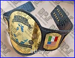 World Heavyweight Wrestling Championship Belt 2mm thick brass plates