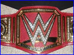 Wwe Authentic Universal Championship Raw Red Metal Adult Size Replica Title Belt