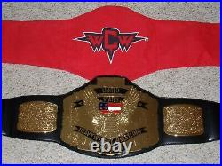 Wwe Authentic Wcw United States Championship Metal Replica Wrestling Title Belt