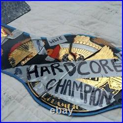 Wwe Hard Core Replica Championship Belt, 4mm Zinc Plates, Orignl Cow Leather Strap