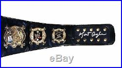 Wwe Kurt Angle Hand Signed Undisputed Championship Adult Belt With Proof And Coa