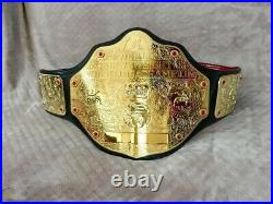 Wwe World Heavyweight Big Gold Championship Replica Belt 2mm Brass Free Dhl Ship