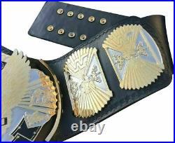 Wwe Wwf Classic Gold Winged Eagle Championship Wrestling Title Adult Belt Brass