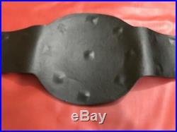Wwf Big Eagle Block Logo Championship Belt In Thick Brass Plates